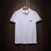 Мъжка тениска с къс ръкав, поло яка и копчета