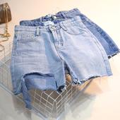 Страхотни дамски къси дънкови панталони в два цвята
