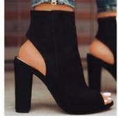 Интересни дамски сандали с отворен глезен и висок ток