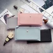 Семпъл портфейл за дамите с копче в четири цвята