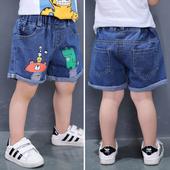 Детски дънкови панталонки за момчета в три модела