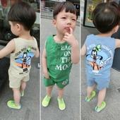 Детски комплект за момчета в три цвята с изображение