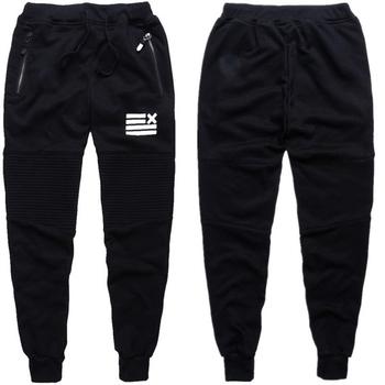 Спортен мъжки панталон в черен цвят