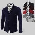 Спортно-елегантно мъжко сако с копчета в четири цвята