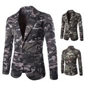 Спортно-елегантно камуфлажно сако за мъжете в два цвята