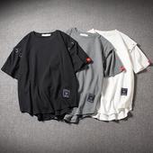 Ежедневна стилна тениска в три цвята с декорация метални халки