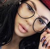 Модерни дамски очила с прозрачни стъкла