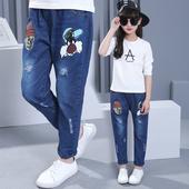 Красиви детски панталони за момичета с апликация