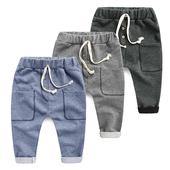 Спортен детски панталон за момичета тип шалвар с джовобе