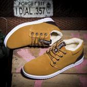 Много удобни мъжки обувки с топъл пух - 6 цвята