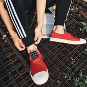 Ежедневни мъжки мокасини в черен и червен цвят