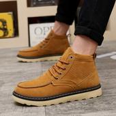 Много удобни и стилни мъжки зимни обувки до глезена в три различни цвята