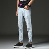 Актуални и много модерни мъжки дънкови панталони в разръфани мотиви