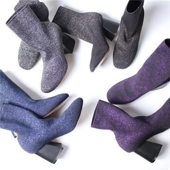 Γυναικείες  λαμπερές μπότες με ψηλό τακούνι  - 4 μοντέλα