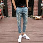 Актуални мъжки дънкови панталони - модел slim fit