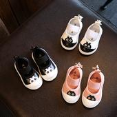 Сладки детски ежедневни обувки в розов, бял и черен цвят