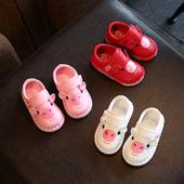 Ежедневни детски обувки за момичета с изображение в розов, червен и бял цвят