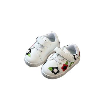 Όμορφα παιδικά πάνινα παπούτσια για κορίτσια με λουράκια βελκρό και έγχρωμο  κέντημα ccb6ca5057b