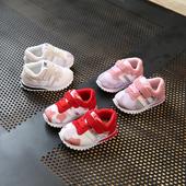 Много сладки детски маратонки за момичета в три цвята с лепенки
