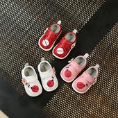 Детски ежедневни обувки за момичета с лепенки и изображения в три цвята