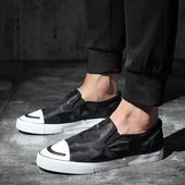 Много интересни мъжки обувки без връзки в преливащи цветове