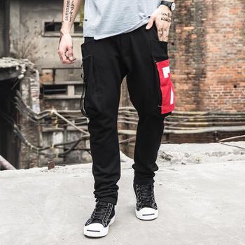 Мъжки спортен панталон с дълбоки джобове в два цвята