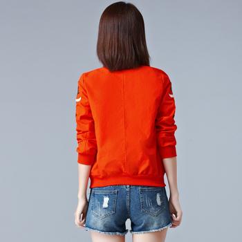 Slim γυναικείο σακάκι  με κεντήματα σε τρία χρώματα