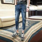 Мъжки slim fit дънков панталон - много актуален