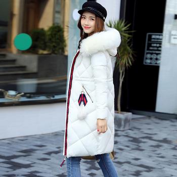 Дълго яке за дамите с качулка и пух в различни цветове