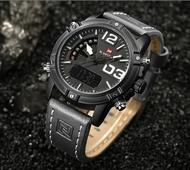 Страхотен мъжки часовник - механичен и дигитален, показващ дните