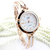 Нежен и стилен дамски часовник - златист и сребрист