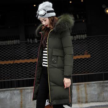 Πολύ όμορφο μακρύ χειμωνιάτικο  μπουφάν με  κουκούλα  και γούνα