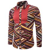 Интересна мъжка риза с дълъг ръкав в два модела шарки