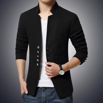 Мъжко спортно-елегантно сако в червен, черен и тъмносин цвят