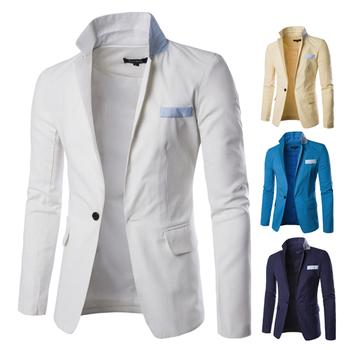 Официално мъжко сако с едно копче в четири цвята