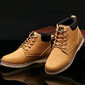 Много удобни и топли мъжки зимно високи обувки с връзки - 3 модела