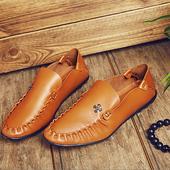 Мъжки кожени обувки без връзки - изключително стилни