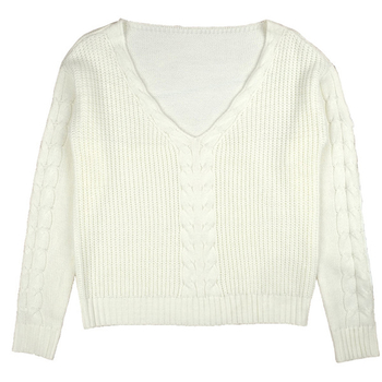 Много удобен дамски пуловер с V-образно деколте