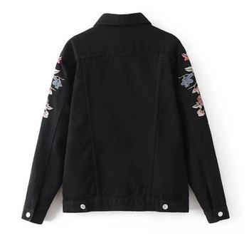 Πολύ κομψό τζιν σακάκι με κουμπιά και  με πολύ όμορφο κέντημα