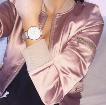 Актуално бомбър яке за дамите в семпъл модел и в много цветове
