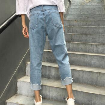 2ea6443edc9 Дамски дънки в син цвят с висока талия и тип Boyfriend - Badu.bg ...