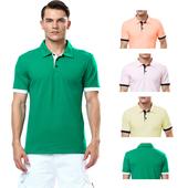 Ежедневна мъжка спортна ризка с поло яка в четири различни цвята