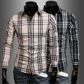 Мъжка стилна риза с популярно райе - 2 модела