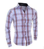 Спортно-елегантна мъжка риза с интересни райета и дълъг ръкав - 2 модела