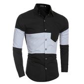 Спортно-елегантна мъжка риза в преливащи цветове с дълъг ръкав,3 цвята