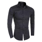 Мъжка официална риза с много интересни малки шарени елементи - 3 модела