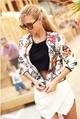 Γυναικείο μπουφάν  με φυτικό μοτίβο