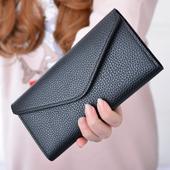Много удобен дамски портфейл тип клъч в няколко различни цвята