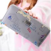 Ежедневен дамски шарен портфейл с цип - няколко цвята