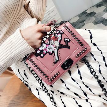 Мини дамска чантичка с дълга дръжка за през рамо - 2 цвята